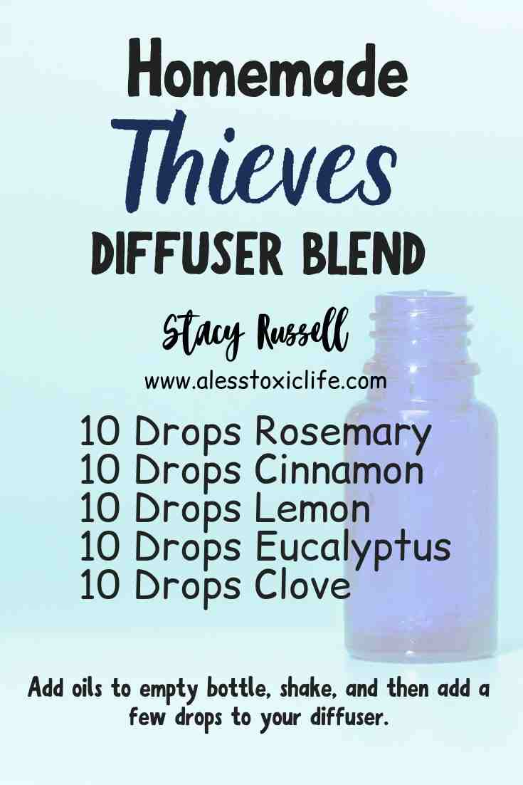 Homemade Thieves diffuser blend